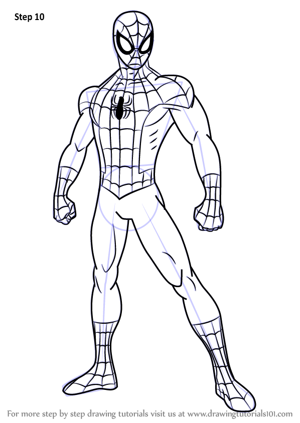 coloring pages spiderman easy drawings - photo#12