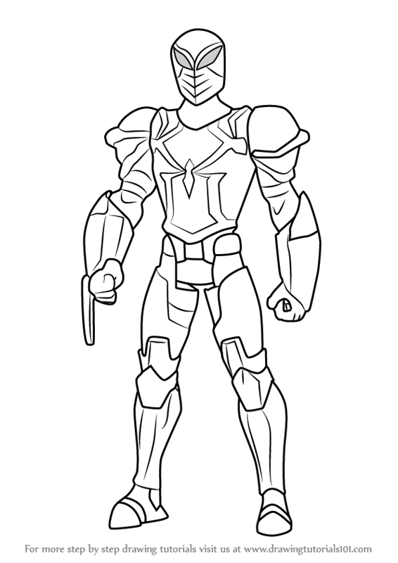 Learn How To Draw Spyder Knight From Ultimate Spider Man