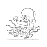 How to Draw Arm Chair Monster from Uncle Grandpa