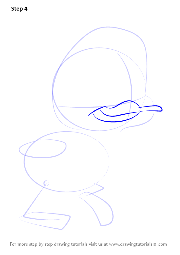 how to draw a baby duck step by step