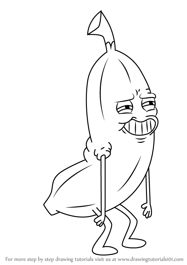 How To Draw Banana Man From Uncle Grandpa