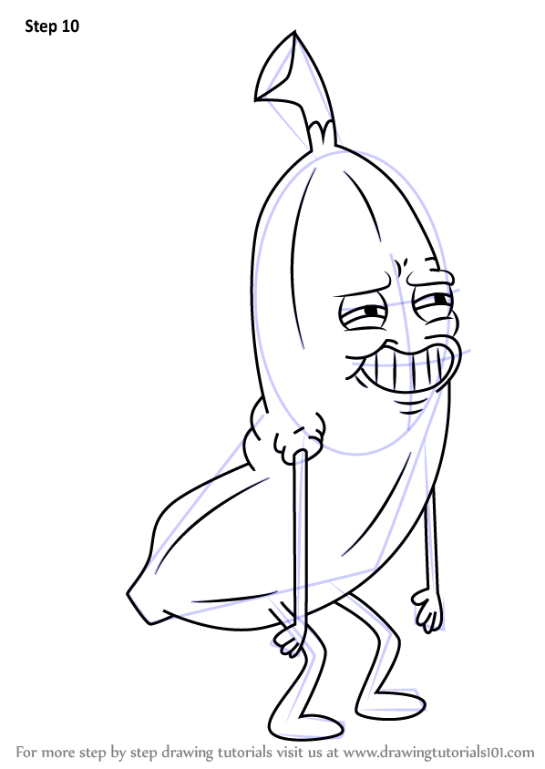 learn how to draw banana man from uncle grandpa  uncle grandpa  step by step   drawing tutorials