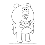 How to Draw Beary Nice from Uncle Grandpa