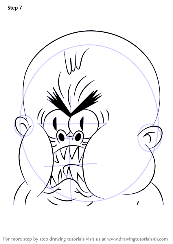 Learn How To Draw Crazy Baby From Uncle Grandpa Uncle