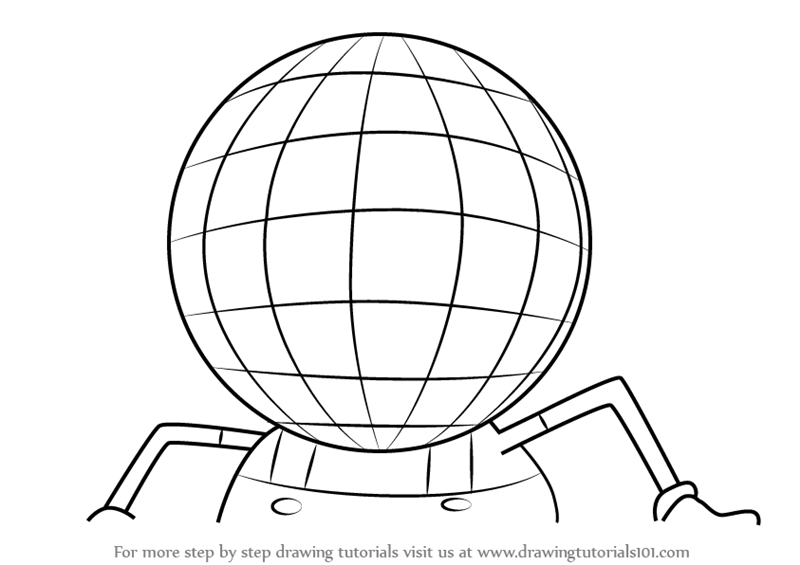 Learn how to draw disco ball head from uncle grandpa for Disco ball coloring page
