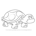 How to Draw Dumb Turtle from Uncle Grandpa