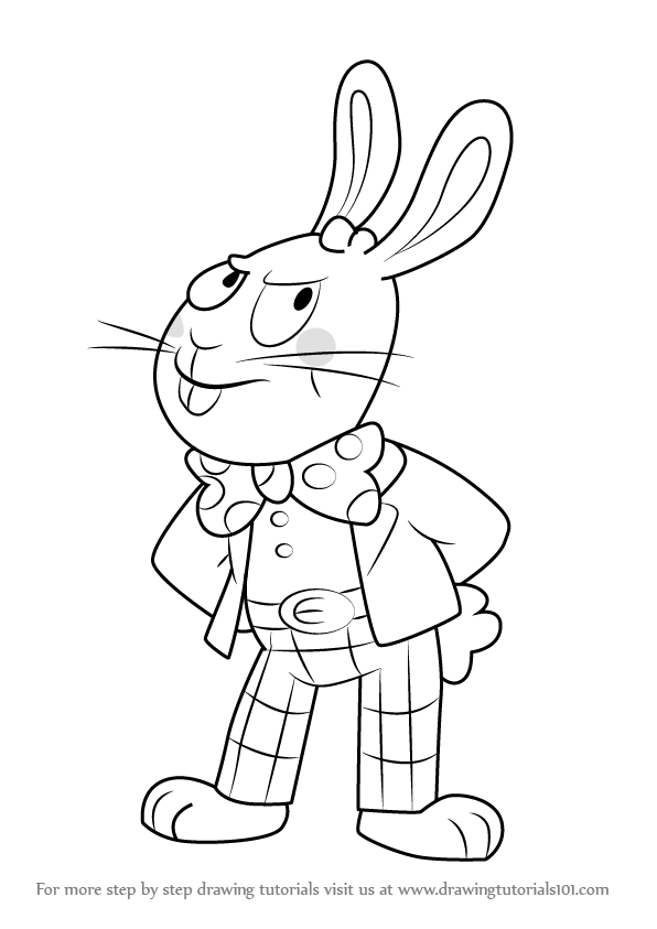 Learn How To Draw Easter Bunny From Uncle Grandpa Uncle