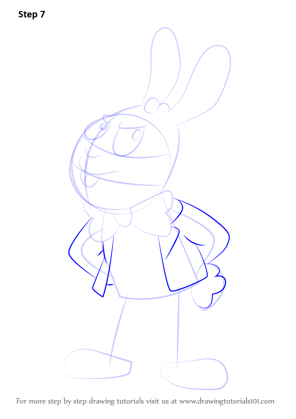 Step By Step How To Draw Easter Bunny From Uncle Grandpa