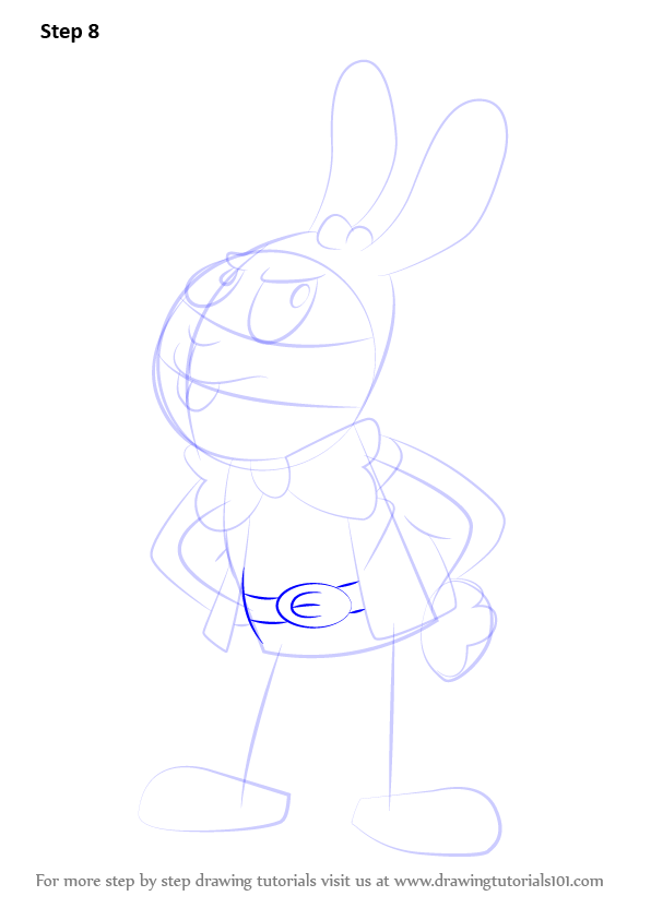 how to draw a easter bunny step by step