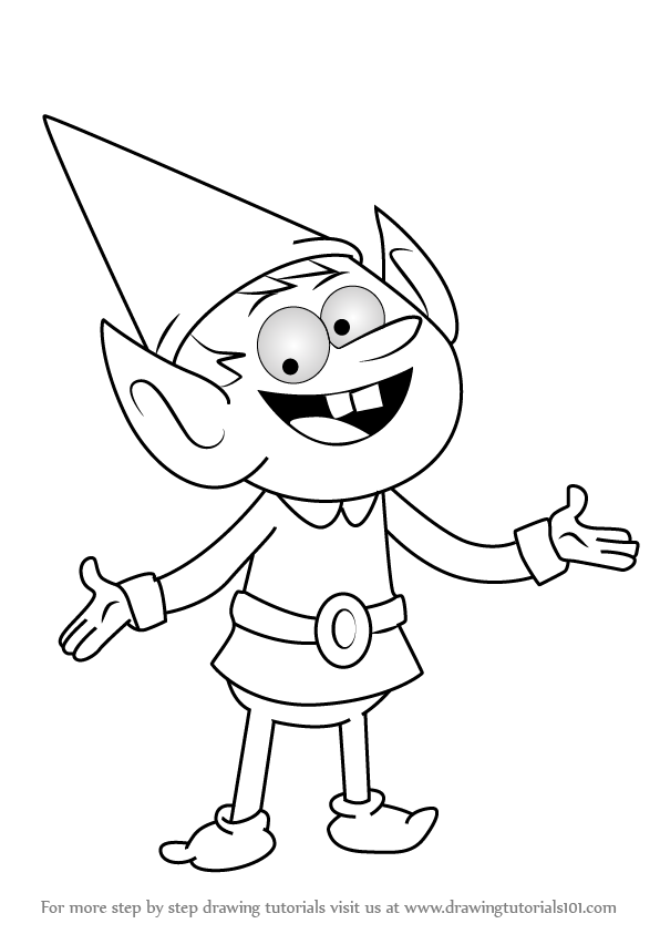 how to draw elf leader from uncle grandpa