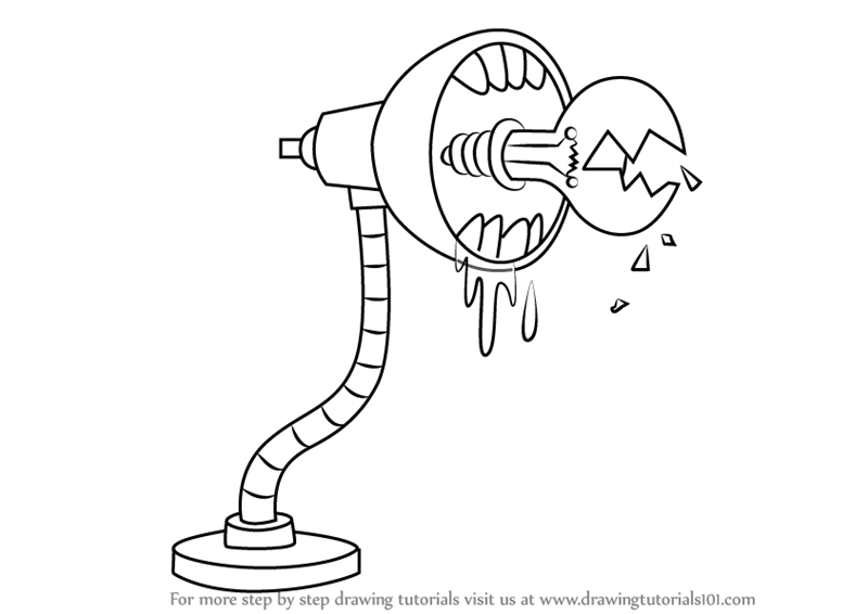 How To Draw Evil Lamp From Uncle Grandpa