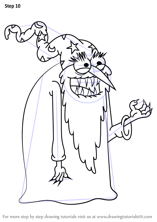 Learn How to Draw Evil Wizard from
