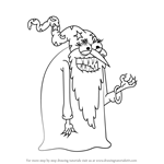 How to Draw Evil Wizard from Uncle Grandpa