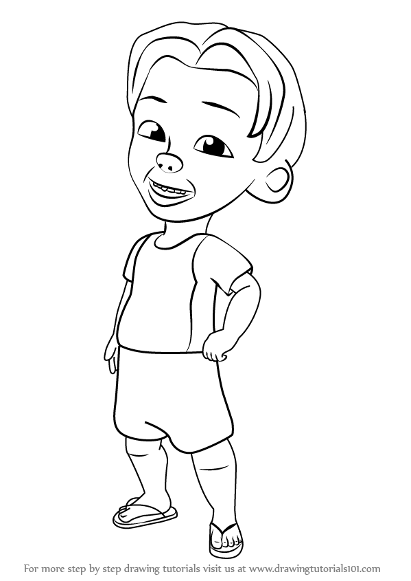 Colouring Picture Upin Ipin Printable Coloring Pages