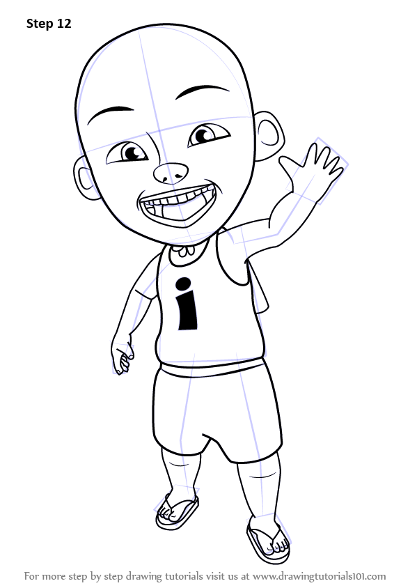 Learn How To Draw Ipin From Upin Amp Ipin Upin Amp Ipin Step
