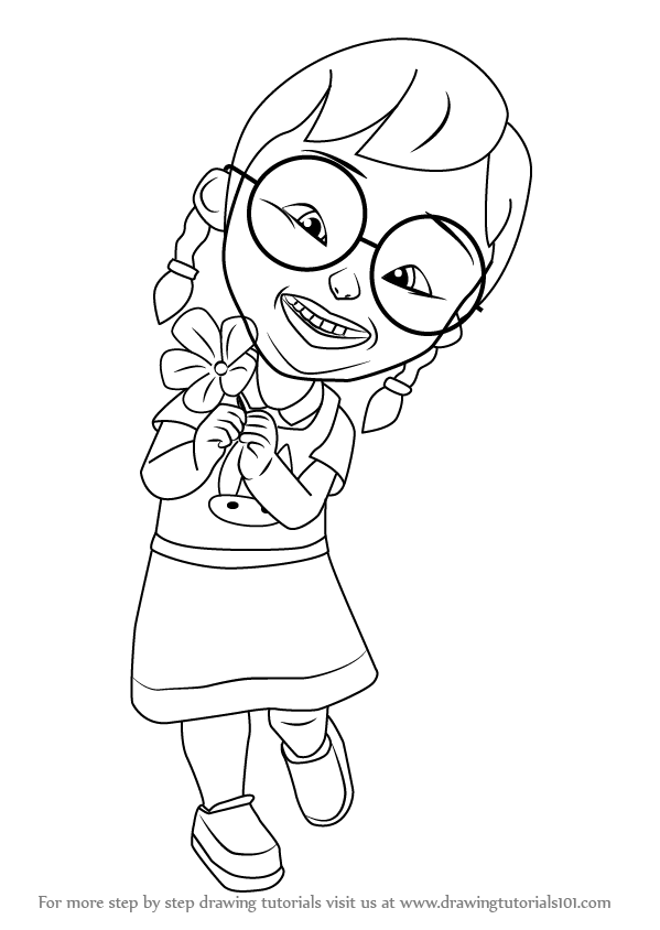 How To Draw Mei From Upin Ipin