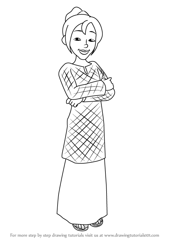 How To Draw Ros From Upin Ipin