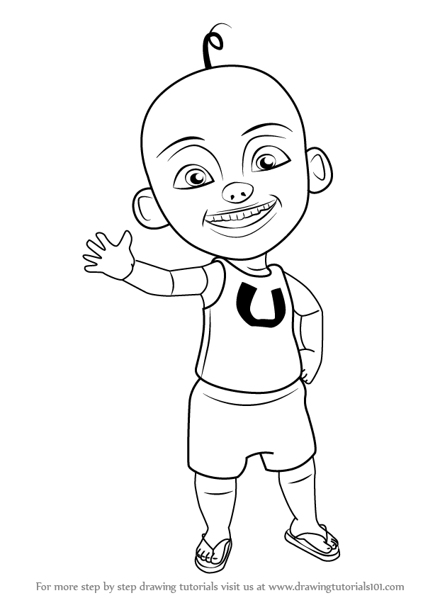 Learn How To Draw Upin From Ipin Step By Drawing Tutorials