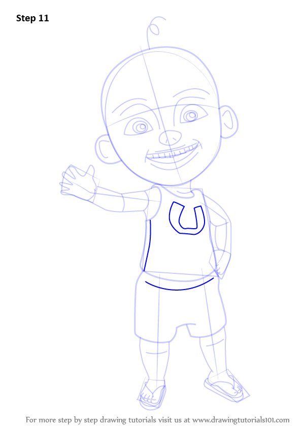 Learn How To Draw Upin From Upin Amp Ipin Upin Amp Ipin Step