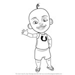 How to Draw Upin from Upin & Ipin