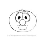 How to Draw Bob the Tomato from VeggieTales