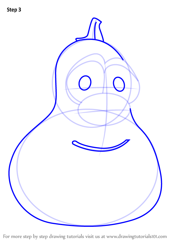 learn how to draw jimmy gourd from veggietales