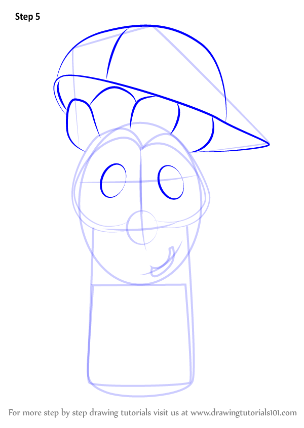 Learn How To Draw Junior Asparagus From Veggietales