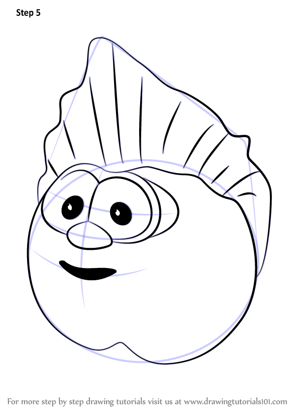 Learn How To Draw The Peach From Veggietales Veggietales