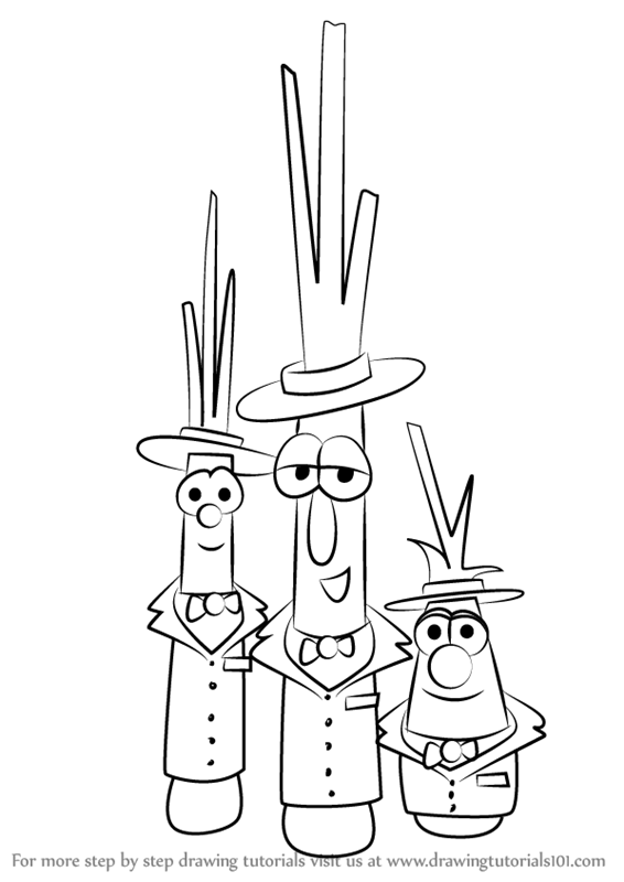 Learn How to Draw The Scallions from VeggieTales