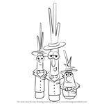 How to Draw The Scallions from VeggieTales