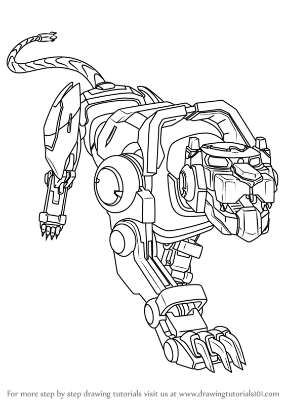 Learn How to Draw Blue Lion from Voltron - Legendary ...