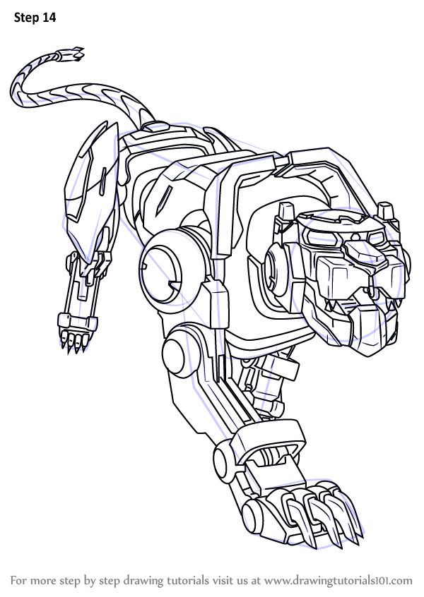 Step by Step How to Draw Blue Lion