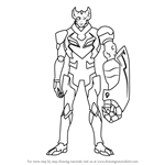 How to Draw Commander Sendak from Voltron - Legendary Defender