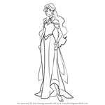 How to Draw Princess Allura from Voltron - Legendary Defender