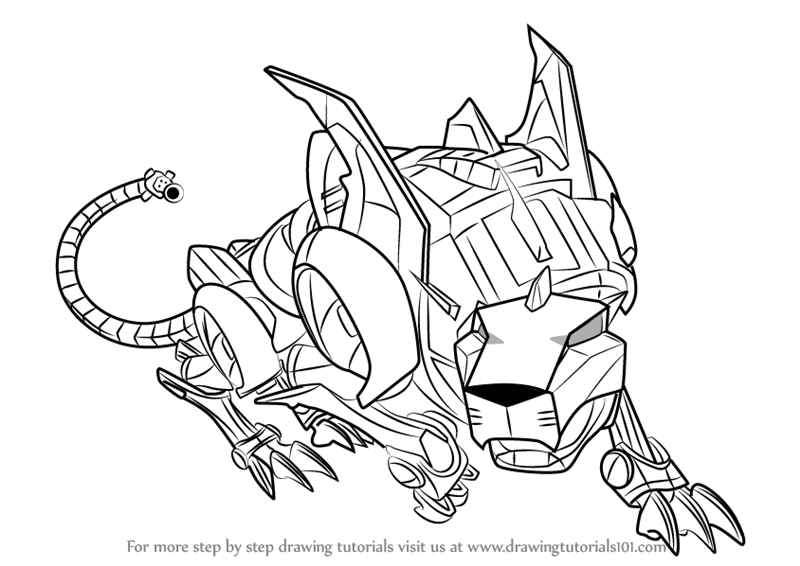 Voltron Legendary Defender In Coloring Pages: Learn How To Draw Red Lion From Voltron