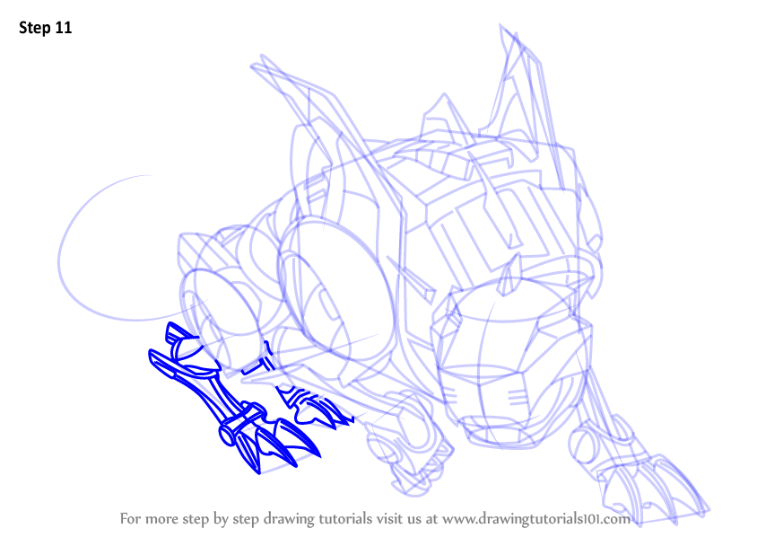 Step By Step How To Draw Red Lion From Voltron