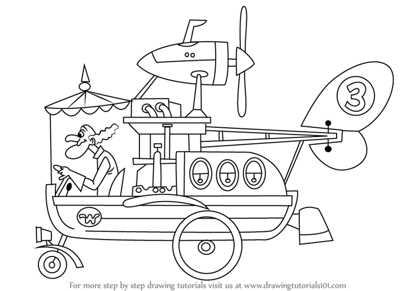 wacky races coloring pages - photo #46