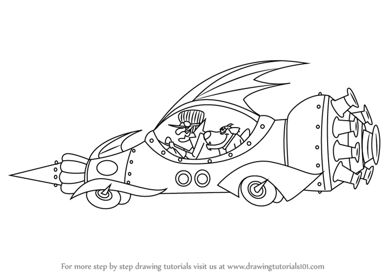 wacky races coloring pages - photo #34