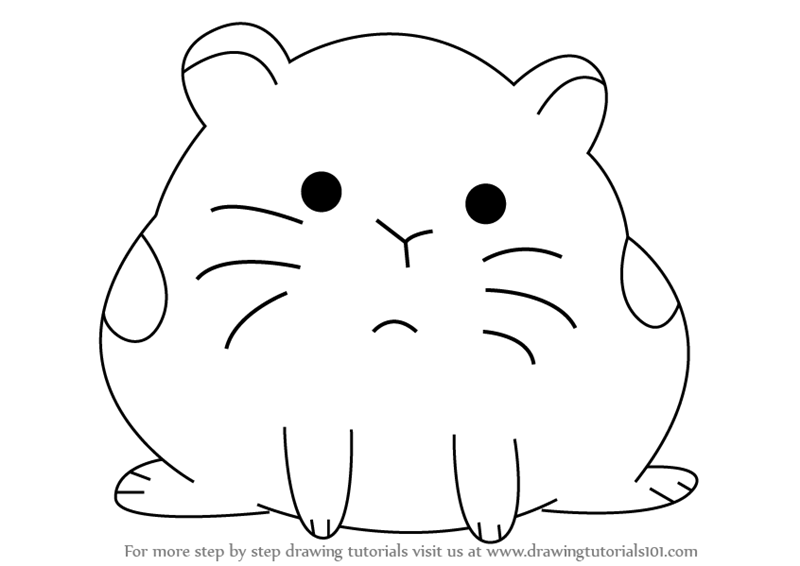 how to draw hamster from we bare bears