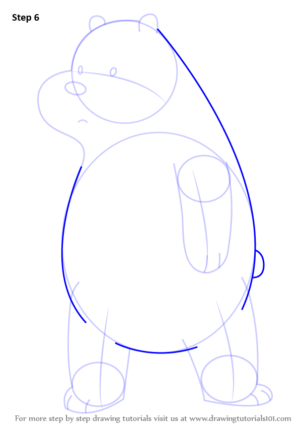 how to draw lefty the bear