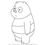 Learn How To Draw Panda Bear From We Bare Bears We Bare Bears Step