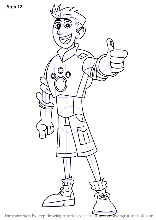 Learn How To Draw Chris Kratt From Wild Kratts Wild