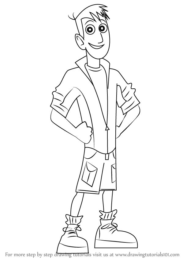 Step By Step How To Draw Martin Kratt From Wild Kratts