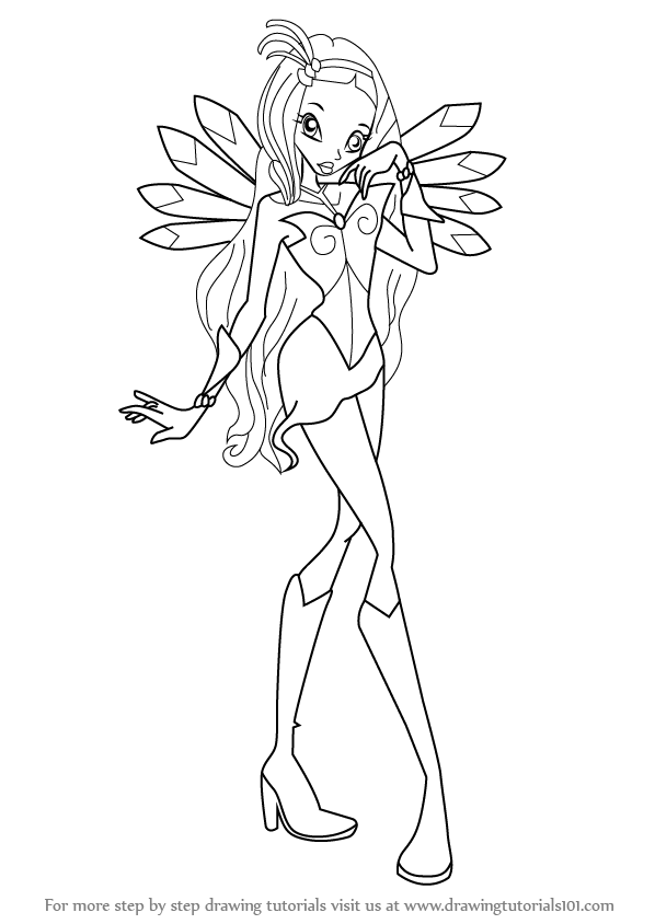 Learn How To Draw Diaspro From Winx Club Winx Club Step