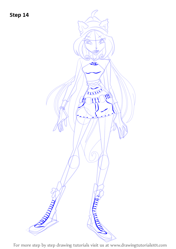 Learn How To Draw Flora From Winx Club  Winx Club  Step By