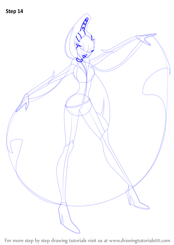 how to draw winx club characters step by step