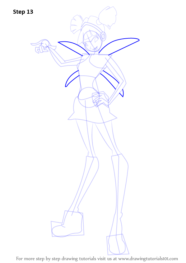 Learn How To Draw Musa From Winx Club Winx Club Step By