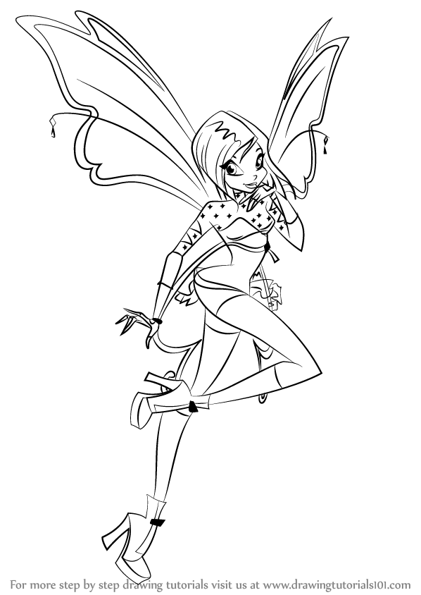 How To Draw Tecna From Winx Club