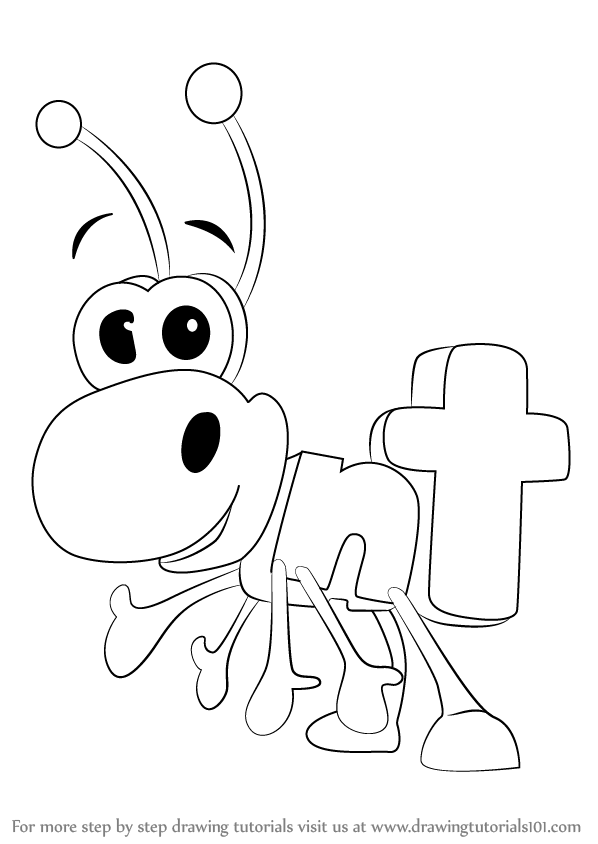 learn how to draw ant from wordworld wordworld step by step