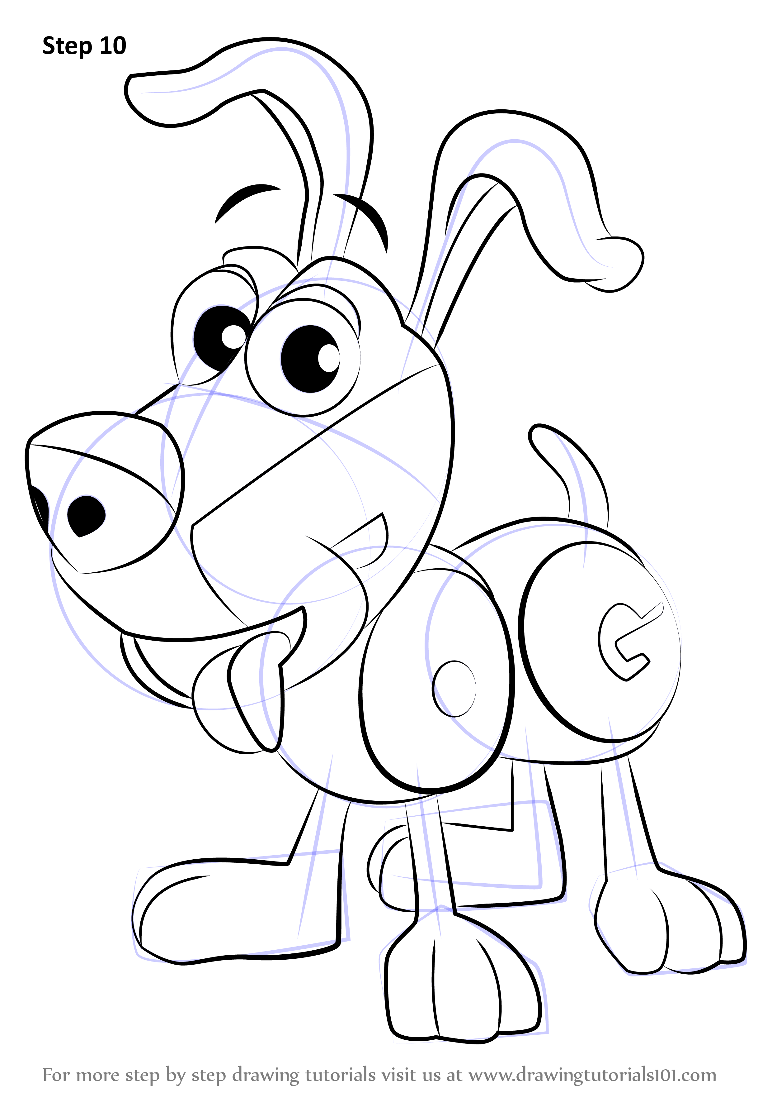 Learn how to draw dog from wordworld wordworld step by for Word world coloring page